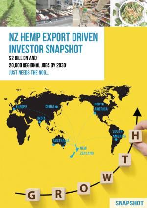 NZ HEMP EXPORT DRIVEN INVESTOR SNAPSHOT